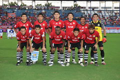 Acción en la taza 2011 de la liga de Toyota Imagen de archivo libre de regalías