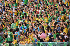 Acción en liga primera tailandesa Imagen de archivo