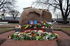 Acción en memoria de Boris Nemtsov Foto de archivo libre de regalías