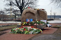 Acción en memoria de Boris Nemtsov Foto de archivo