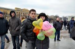 Acción en memoria de Boris Nemtsov Imagenes de archivo