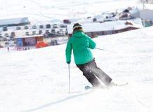 Acción en nieve del polvo Fotos de archivo