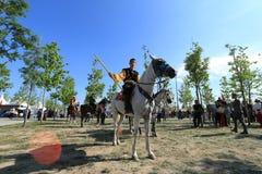 Acción en un juego de Jereed - turco Cirit Sporu Imagen de archivo libre de regalías