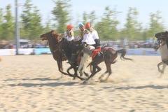 Acción en un juego de Jereed - turco Cirit Sporu Foto de archivo