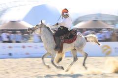 Acción en un juego de Jereed - turco Cirit Sporu Fotografía de archivo