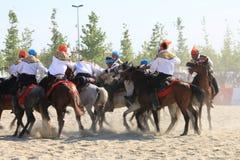 Acción en un juego de Jereed - turco Cirit Sporu Foto de archivo libre de regalías