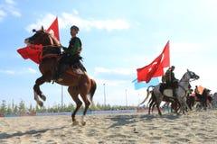 Acción en un juego de Jereed - turco Cirit Sporu Fotos de archivo