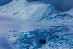 Acción glacial Imágenes de archivo libres de regalías