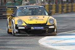 Acción GT3 de Porsche 997 en la serie estupenda de Tailandia Fotografía de archivo