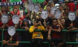 Acción indonesia del partidario Foto de archivo libre de regalías