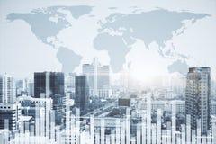 Acción, negocio global y concepto de la gestión de fondos Fotografía de archivo libre de regalías