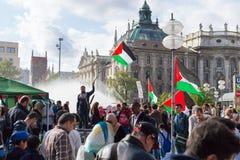 Acción pacifista de la reunión en Europa Imagen de archivo libre de regalías