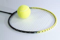 Acción para el juego en tenis Fotografía de archivo