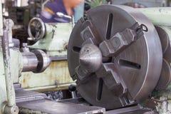 Acción principal de la máquina del torno Imagen de archivo libre de regalías