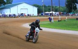 Acción que compite con de la favorable motocicleta Fotografía de archivo
