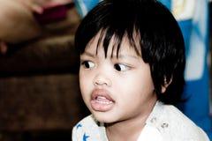 Acción tailandesa asiática del muchacho Fotos de archivo