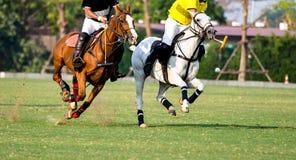 Acción tirada de Polo Player Fotografía de archivo