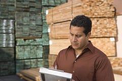 Acción Warehouse que admite del supervisor Imágenes de archivo libres de regalías