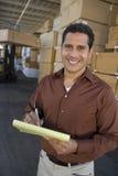 Acción Warehouse que admite del supervisor Imagen de archivo libre de regalías