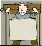Acción y muestra stock de ilustración