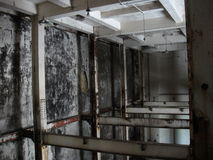 Acciaieria interna abbandonata Immagini Stock Libere da Diritti