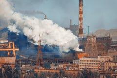 Acciaieria, pianta di metallurgia Fabbrica dell'industria pesante fotografia stock libera da diritti