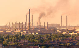 Acciaieria, pianta di metallurgia Fabbrica dell'industria pesante fotografie stock