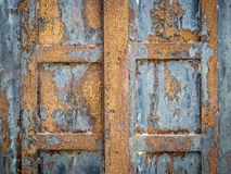 acciaio arrugginito del portello immagine stock libera da diritti
