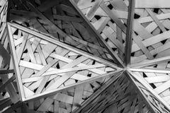 Acciaio in bianco e nero di architettura moderna, progettazione architettonica, Fotografia Stock Libera da Diritti