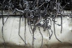 Acciaio del residuo dalla fabbrica dei bulloni Fotografie Stock