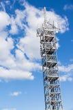 Acciaio del telefono installato sul traliccio Fotografie Stock Libere da Diritti