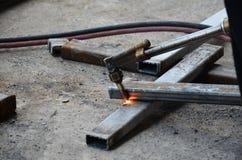 Acciaio della saldatura a gas Fotografia Stock Libera da Diritti