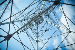 Acciaio della torre di elettricità Fotografie Stock