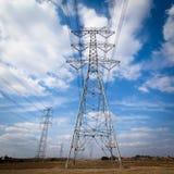 Acciaio della torre di elettricità Fotografia Stock Libera da Diritti