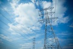 Acciaio della torre di elettricità Fotografia Stock