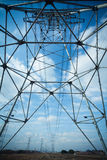 Acciaio della torre di elettricità Fotografie Stock Libere da Diritti