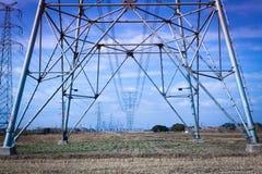 Acciaio della torre di elettricità Immagine Stock