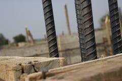 Acciaio di barre deforme Fotografia Stock Libera da Diritti