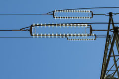 Pilone di elettricità Fotografia Stock