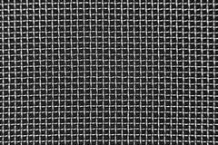 Acciaio, ferro, maglia metallica su un fondo bianco, una cellula quadrata fotografia stock libera da diritti