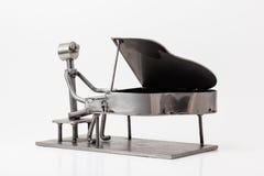 Acciaio inossidabile Jazz Piano Fotografie Stock Libere da Diritti