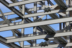 Acciaio per costruzioni edili Fotografie Stock Libere da Diritti