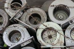 Acciaio riciclato usato per ridurre riscaldamento globale Fotografia Stock