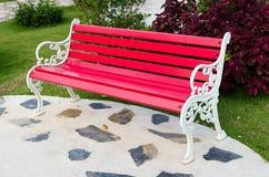 Acciaio rosso della sedia Immagini Stock
