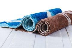 Acciambellato dei tappeti variopinti fotografia stock