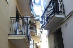 Acciaroli-Balkon Stockfotografie