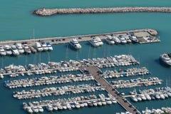 Acciaroli Hafen Stockfotos