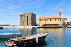 Acciaroli, Salerno Igreja da Annunziata Foto de Stock