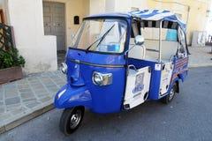 Acciaroli-Taxi Stockbilder
