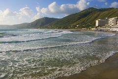 Acciaroli village, Cilento Coast, southern Italy Stock Images
